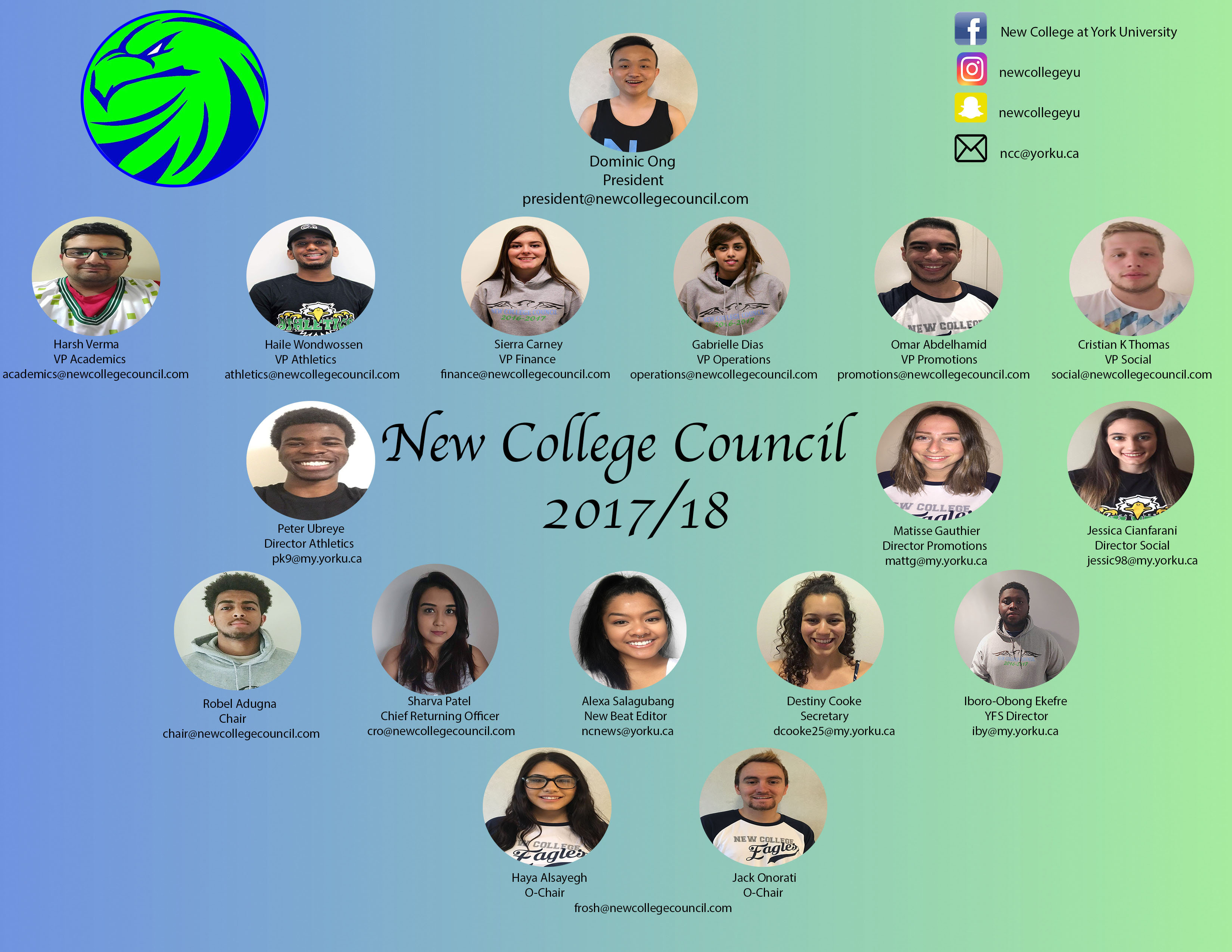 2017-2018 New College Council